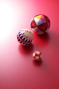 3つの手毬の写真素材 [FYI01607259]