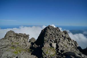 鳥海山の頂上の写真素材 [FYI01607488]