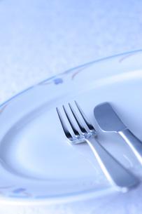 フォークとナイフとお皿の写真素材 [FYI01607566]