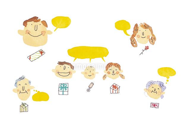 プレゼントと家族のイメージのイラスト素材 [FYI01607601]