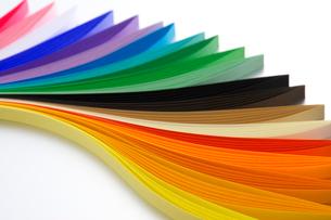 カラフルな色紙の写真素材 [FYI01607702]