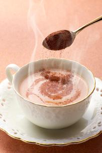 ミルクココアとミルクココアパウダーの写真素材 [FYI01608332]