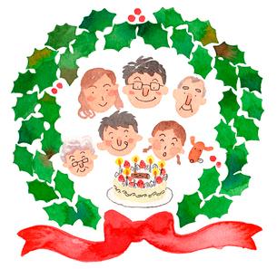 家族でクリスマスのイラスト素材 [FYI01608699]
