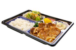 豚生姜焼き弁当の写真素材 [FYI01608762]