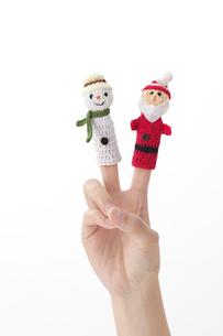 指人形をした女性の手の写真素材 [FYI01609125]