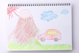 富士山と車の写真素材 [FYI01609945]