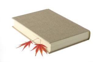 本とモミジの栞の写真素材 [FYI01610217]