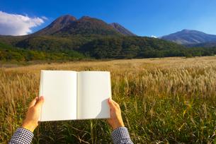 白紙の本を持つ男性の写真素材 [FYI01610328]