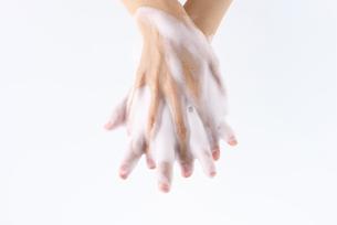 手を洗う女性の写真素材 [FYI01610416]