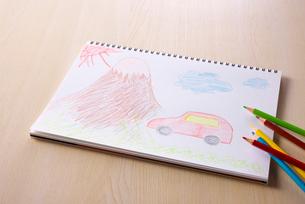 富士山と車の写真素材 [FYI01610624]