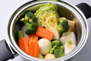 野菜スープの具材の写真素材 [FYI01611665]