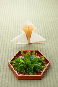 茶葉と茶筅の写真素材 [FYI01611774]
