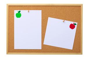 コルクボードとメッセージカードの写真素材 [FYI01611875]