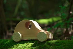 苔の上に置かれた車の写真素材 [FYI01612704]