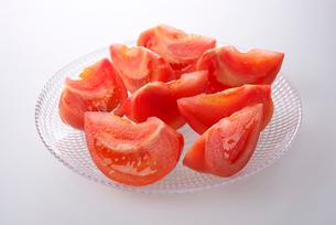 カットされたトマトの写真素材 [FYI01612994]