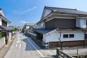 福岡県 吉井町の町並みの写真素材 [FYI01615666]