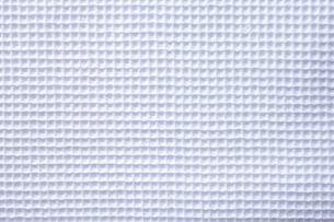 ワッフル調の白い布の写真素材 [FYI01615810]
