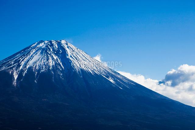 朝霧高原の高台より望む富士山の写真素材 [FYI01616373]