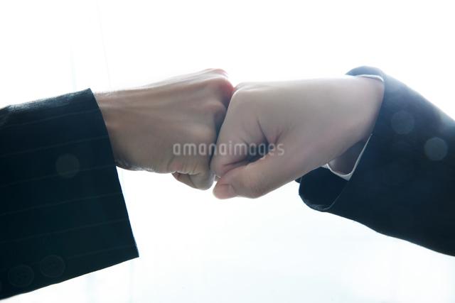 勝利ポーズしているビジネスウーマンの写真素材 [FYI01616595]