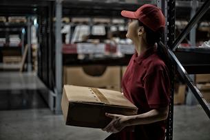 ボックスを持っている女性の写真素材 [FYI01616955]