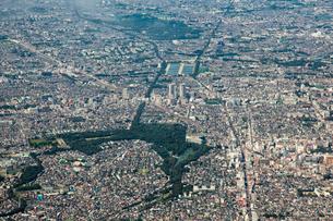吉祥寺、井の頭公園~三鷹・武蔵境周辺の空撮の写真素材 [FYI01617016]