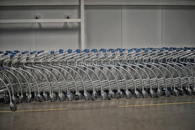 ショッピングカートの写真素材 [FYI01617283]