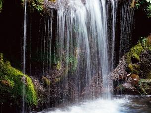 糸を引く滝の写真素材 [FYI01617345]