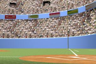 野球場 ホームベースから外野席を望むのイラスト素材 [FYI01617628]