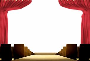 明るいステージに続く花道のイラスト素材 [FYI01617648]