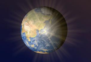 地球上で輝く日本のイラスト素材 [FYI01617824]