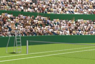 テニスコートと観客のイラスト素材 [FYI01617829]