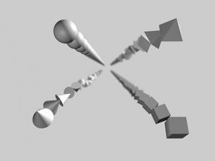 連続する形状のイメージの写真素材 [FYI01617842]