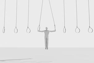 吊り輪につかまる男性のイラスト素材 [FYI01618162]