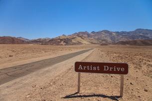 アーティストドライブの標識の写真素材 [FYI01618700]