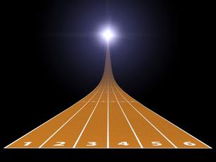 光に伸びる陸上競技トラックのイラスト素材 [FYI01618741]