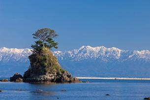 雨晴海岸と立山連峰の写真素材 [FYI01619099]