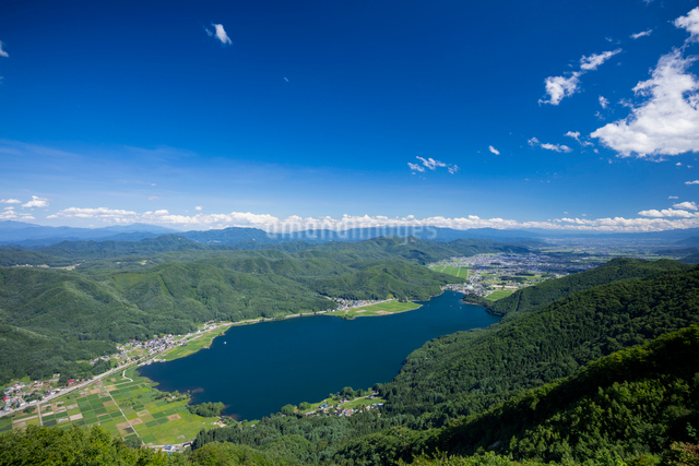 木崎湖の写真素材 [FYI01619409]