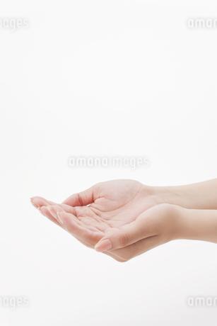 両手を差し出す女性の手の写真素材 [FYI01620410]