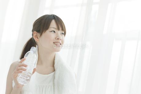 水を飲む若い女性の写真素材 [FYI01620610]