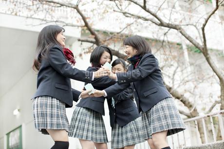 喜ぶ女子校生の写真素材 [FYI01620686]