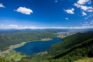 木崎湖の写真素材 [FYI01620837]