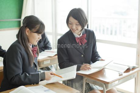 授業中教えあう女子校生の写真素材 [FYI01620840]