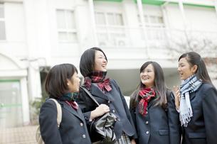 下校をする女子校生の写真素材 [FYI01621665]