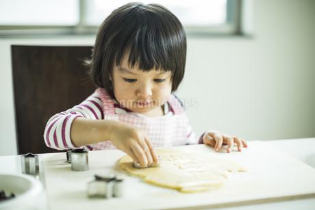 クッキー作りをする女の子の写真素材 [FYI01621870]
