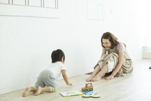 子供と遊ぶ母親の写真素材 [FYI01622009]
