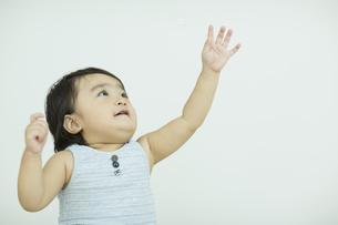 手を上に伸ばす赤ちゃんの写真素材 [FYI01622387]