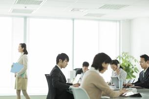 オフィスで働くビジネスマンとビジネスウーマンの写真素材 [FYI01623289]