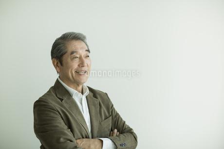 笑顔のシニア男性の写真素材 [FYI01623775]