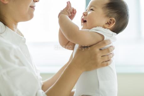母親に抱っこされる赤ちゃんの写真素材 [FYI01623923]