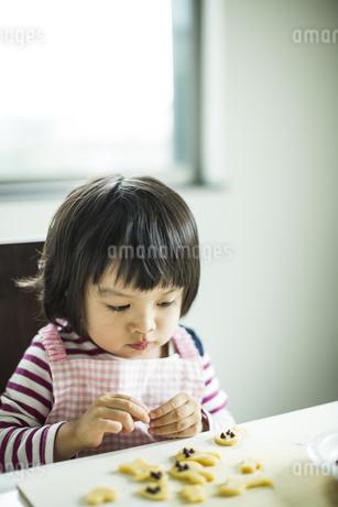 クッキー作りをする女の子の写真素材 [FYI01623952]